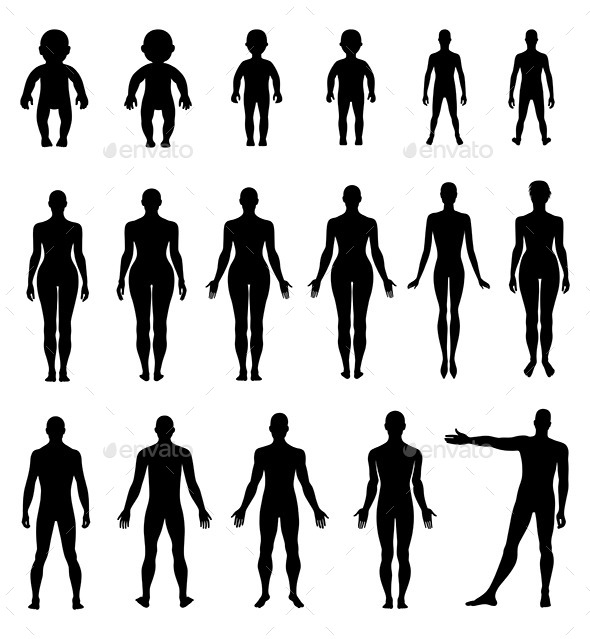 GraphicRiver Human Silhouette Set 10962065