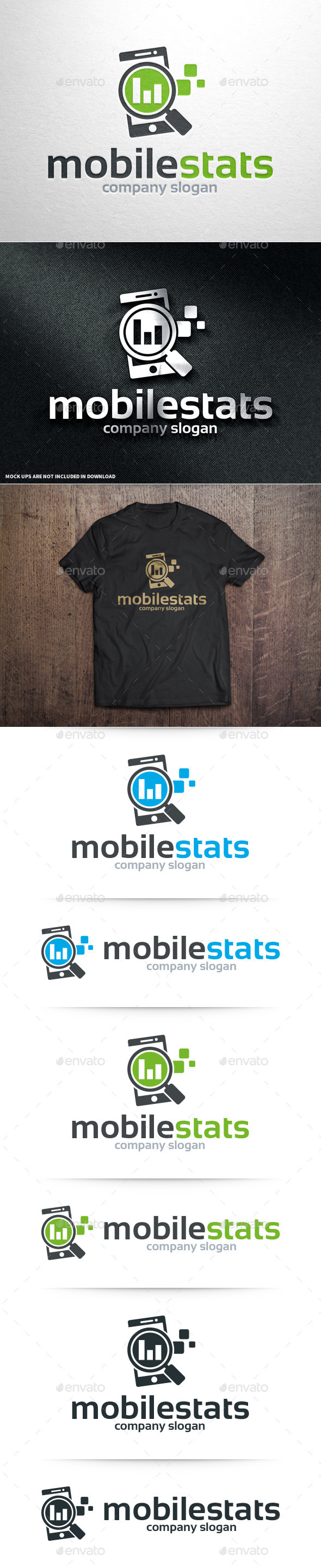 GraphicRiver Mobile Stats Logo Template 10962144