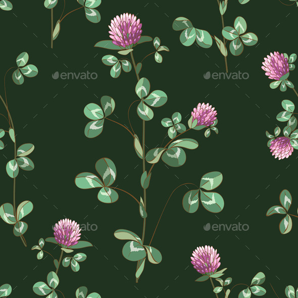 GraphicRiver Clover Flowers Pattern 10962164