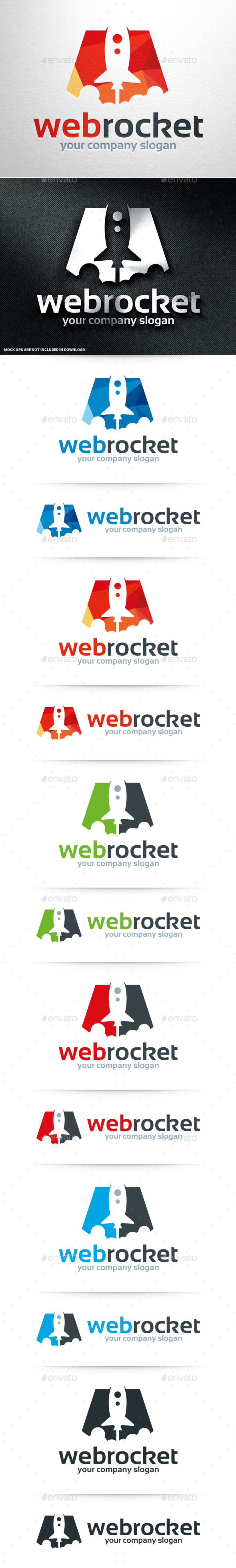 GraphicRiver Web Rocket Logo Template 10962221