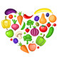 Fruits and Vegetables Heart - GraphicRiver Item for Sale
