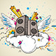 Music Speakers and Cloud - GraphicRiver Item for Sale