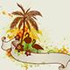 Palms and Flamingo. - GraphicRiver Item for Sale