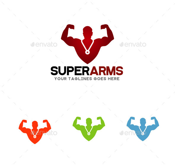 GraphicRiver Super Arms Logo 10917412