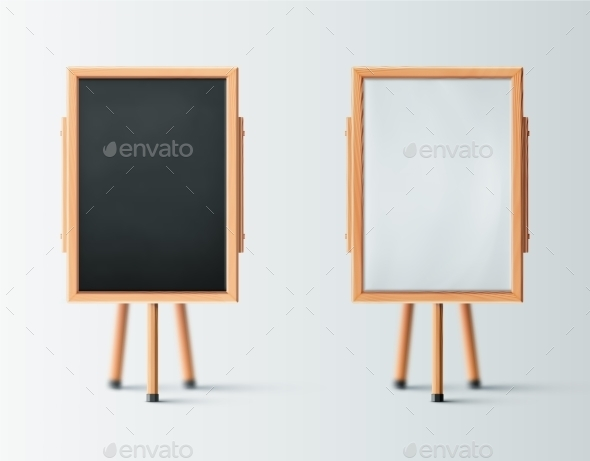 GraphicRiver Two Wooden Easel 10962568