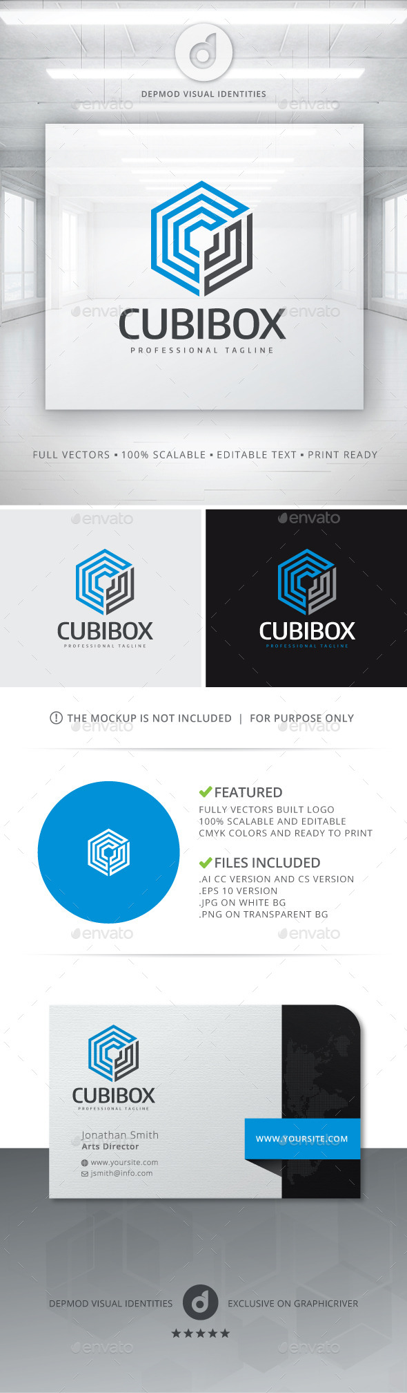 GraphicRiver Cubibox Logo 10962581