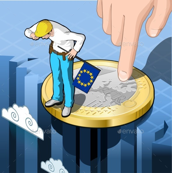 GraphicRiver Occupational and Economic Precariousness in Europe 10962722