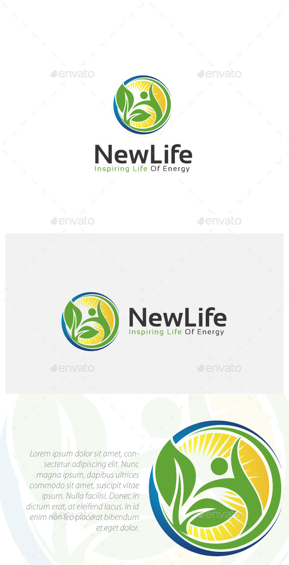 GraphicRiver Natural Healthy Life Logo 10962811