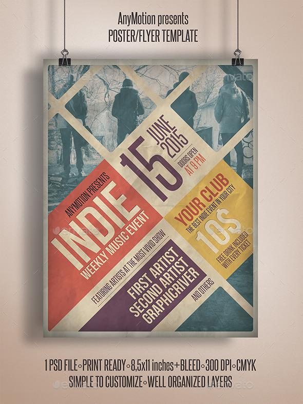 GraphicRiver Grunge Indie Flyer 10922043