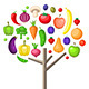 Fruits and Vegetable Tree - GraphicRiver Item for Sale