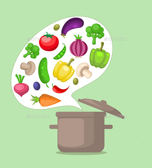 GraphicRiver Vegetables and Pan 10963583