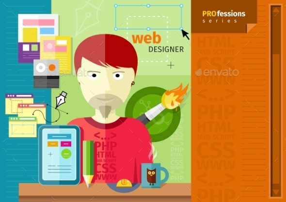 GraphicRiver Male Web Designer 10963647
