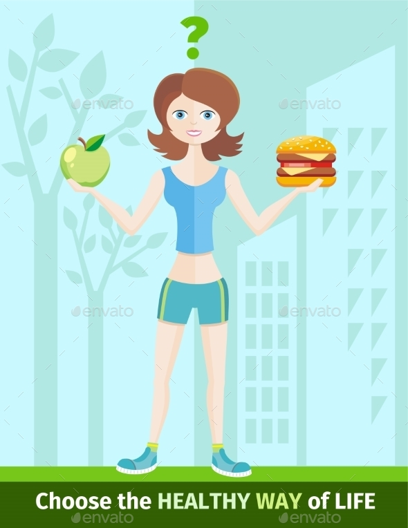 GraphicRiver Healthy Lifestyle and Dieting Concept 10963745