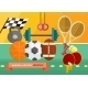 Gym with Sport Equipment Concept - GraphicRiver Item for Sale