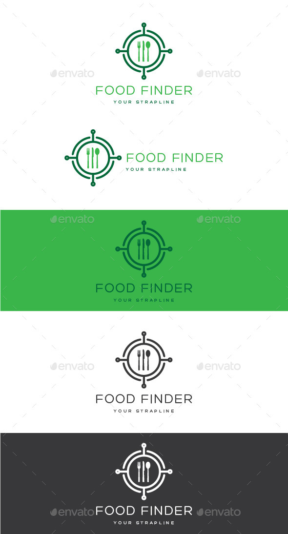 GraphicRiver Food Finder Logo 10963958