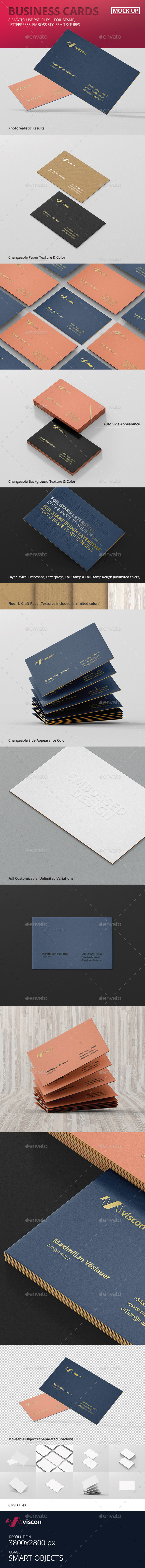 GraphicRiver Business Cards Mock-Ups 10963970