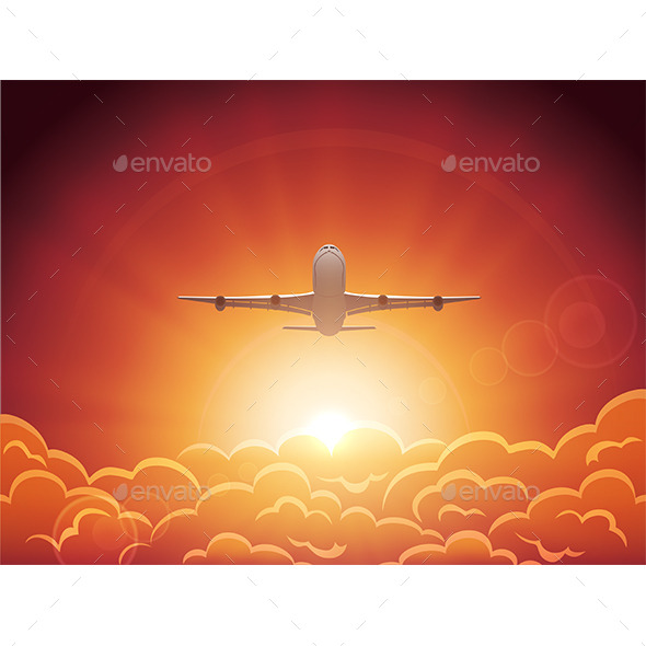 GraphicRiver Plane in the Sky 10963968