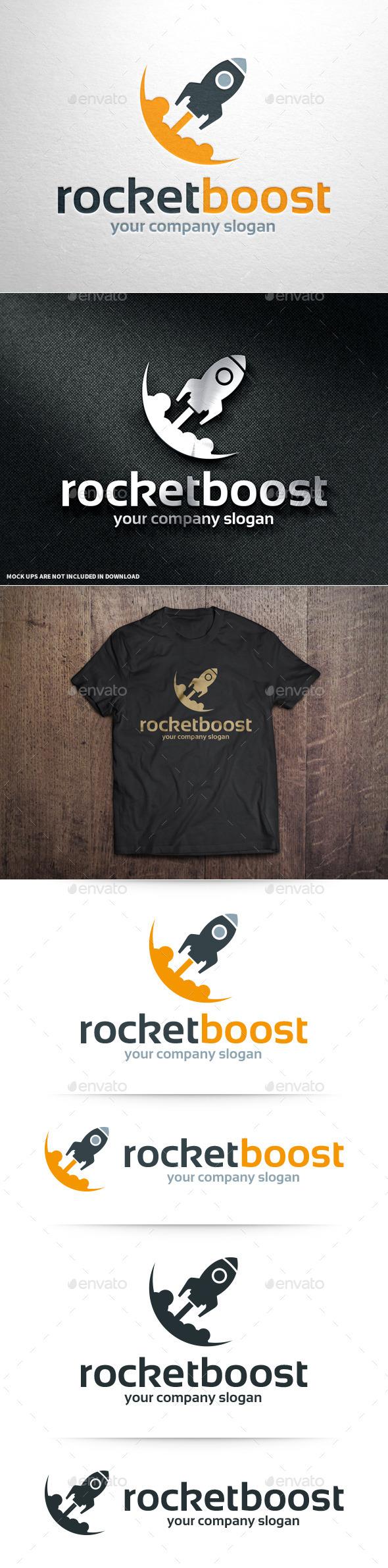 GraphicRiver Rocket Boost Logo Template 10964019