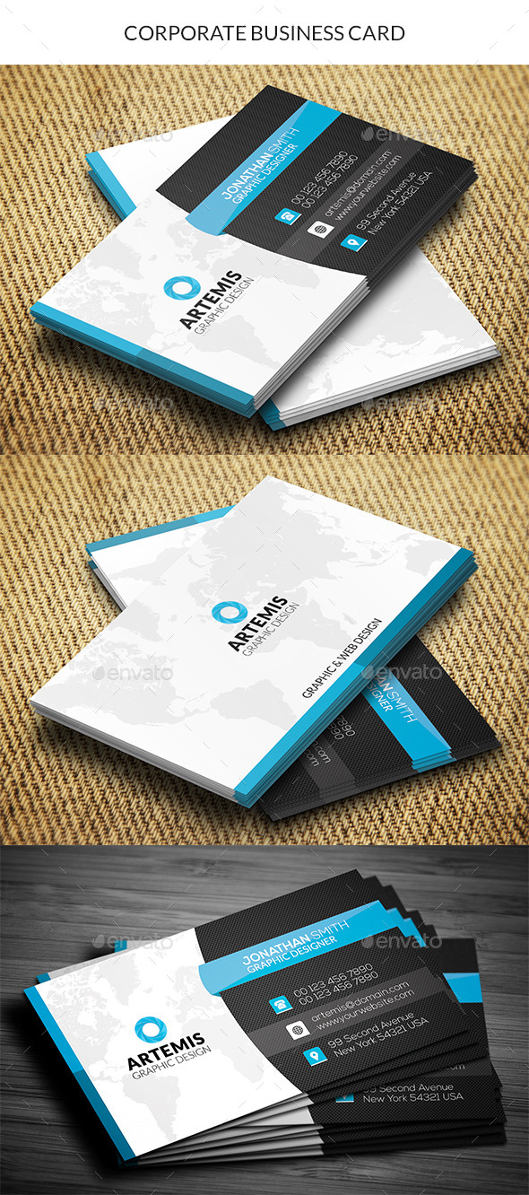 GraphicRiver Corporate Business Card 10964086