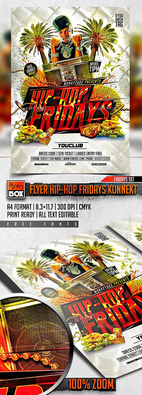 GraphicRiver Flyer Hip-Hop Fridays Konnekt 10964201