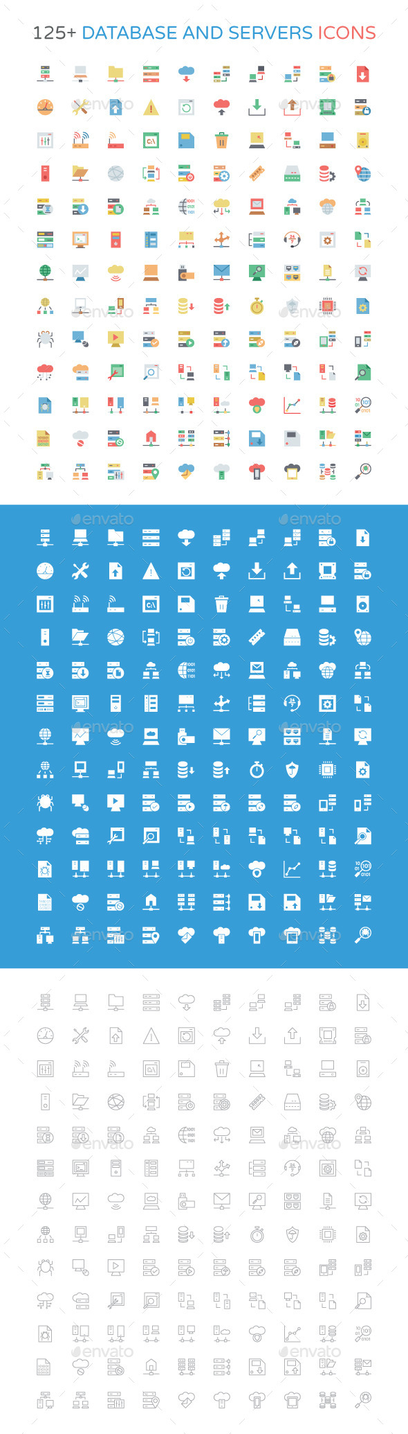 GraphicRiver 125& Database and Server Icons 10964202