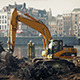 Excavator Working By City Harbor - VideoHive Item for Sale
