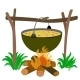 Kettle of Soup in Campfire - GraphicRiver Item for Sale