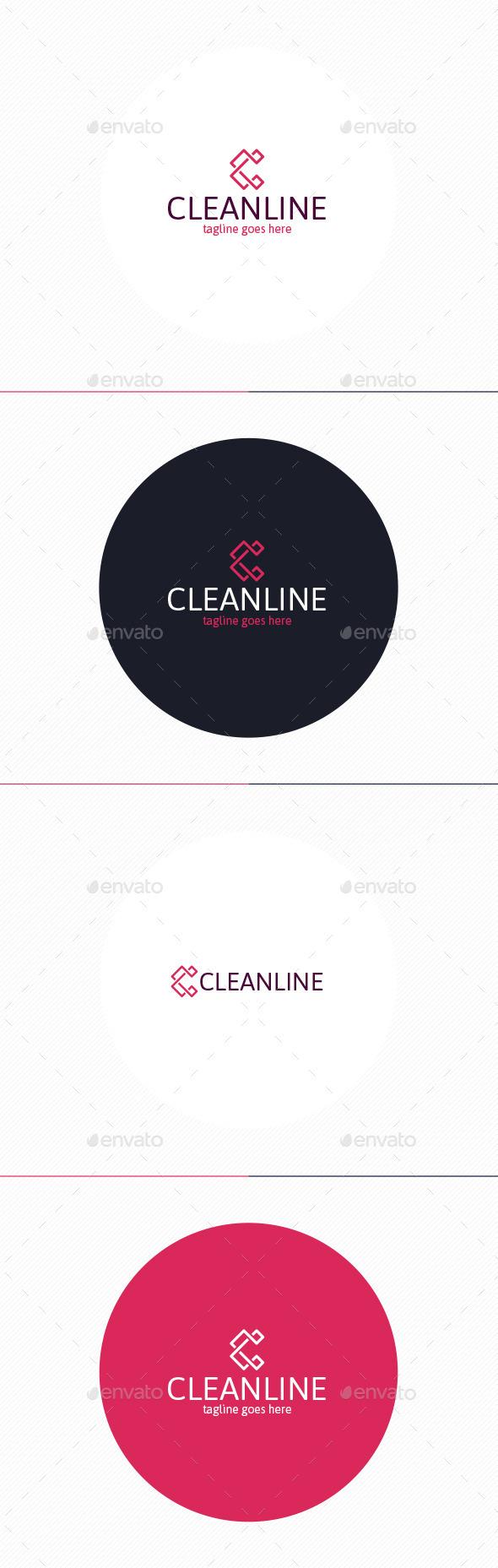 GraphicRiver Clean Line Logo Letter C 10964417