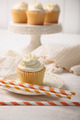 Sweet vanilla cupcake with straws - PhotoDune Item for Sale