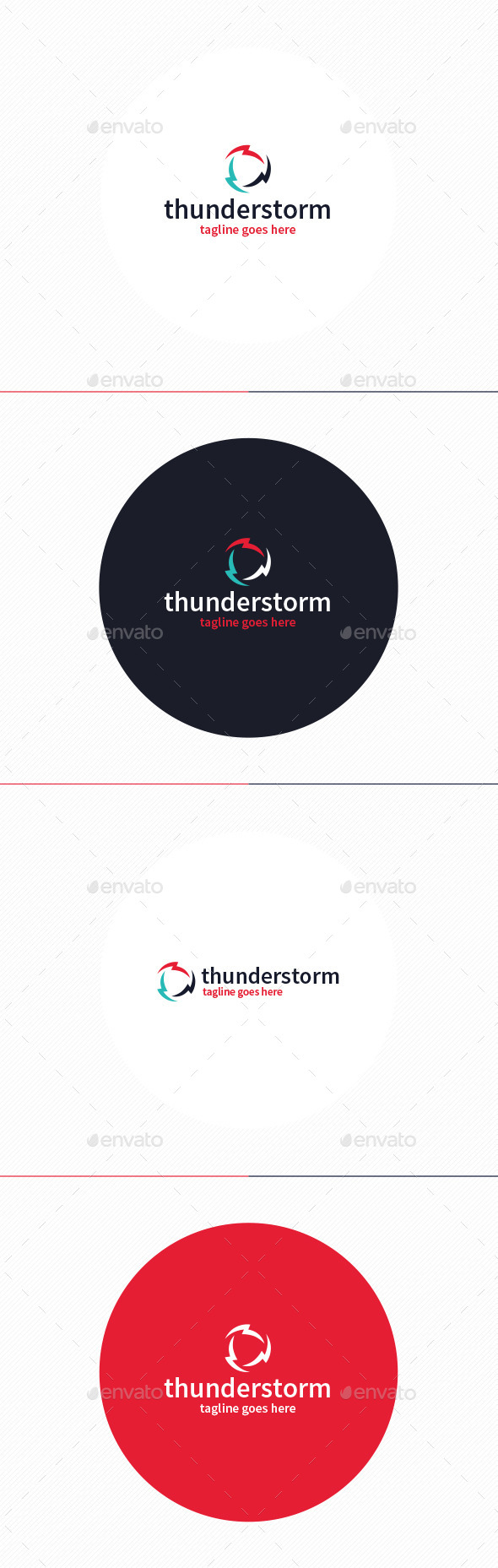 GraphicRiver Thunderstorm Logo 10965230