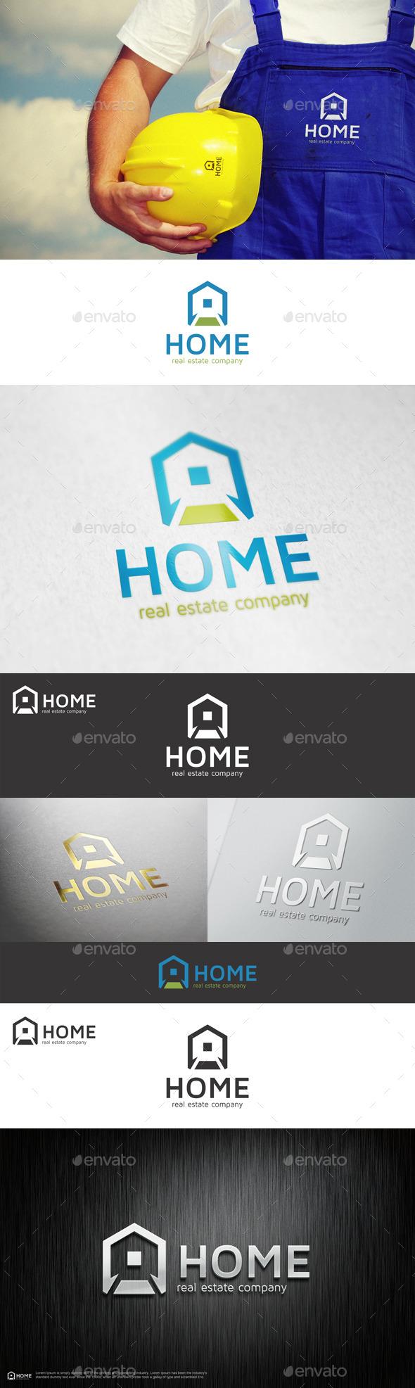 GraphicRiver Home Real Estate Company Logo 10965417