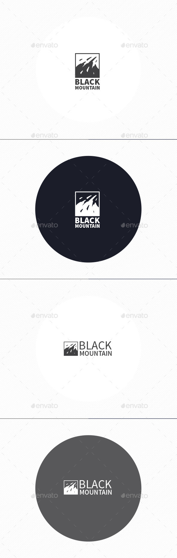 GraphicRiver Black Mountain Logo 10965436