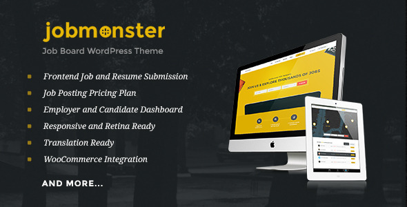 ThemeForest Jobmonster Job Board WordPress Theme 10965446