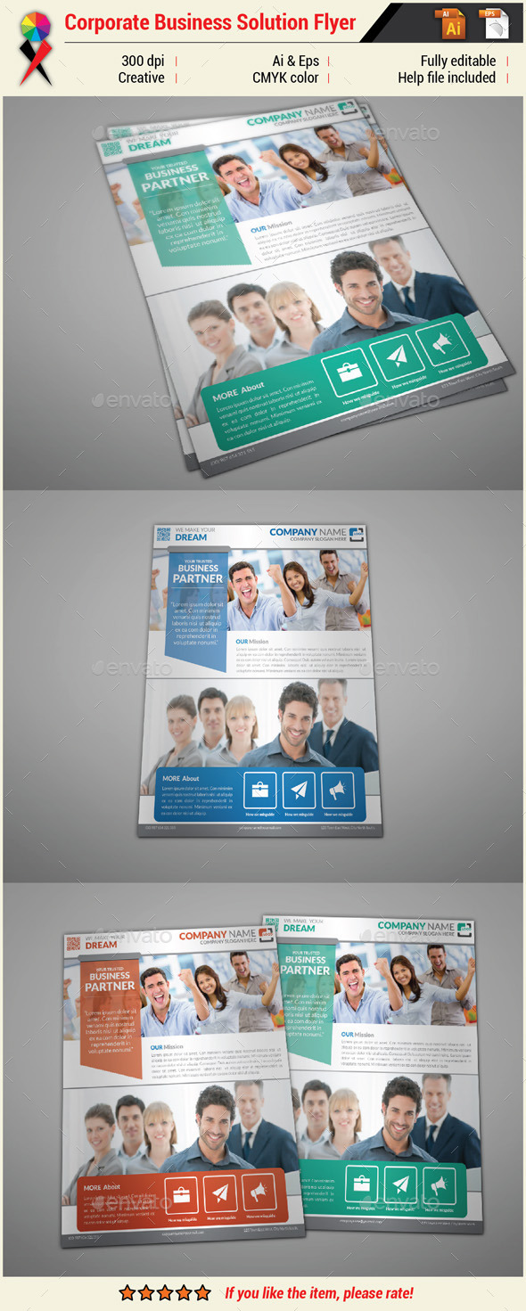 GraphicRiver Corporate Business Flyer Print Template 10965495