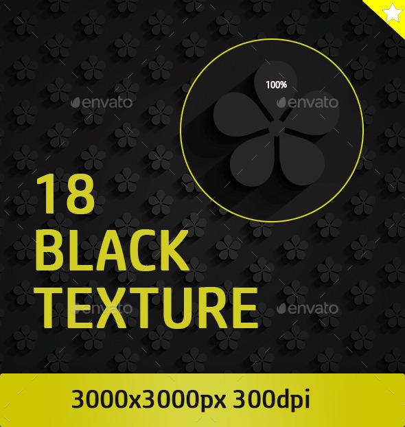 GraphicRiver 18 Black Pattern Texture 10966095