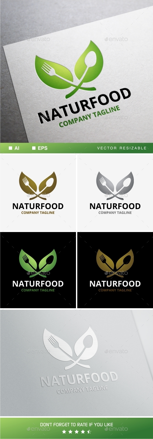 GraphicRiver Naturfood Logo 10966223