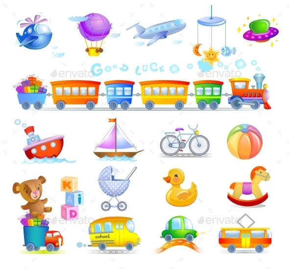 GraphicRiver Variety of Childrens Toys 10966482
