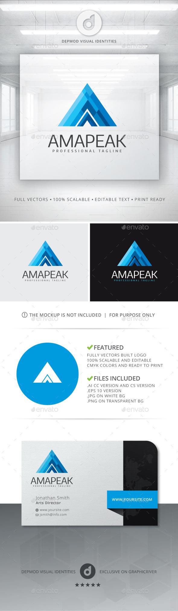 GraphicRiver Amapeak Logo 10966553