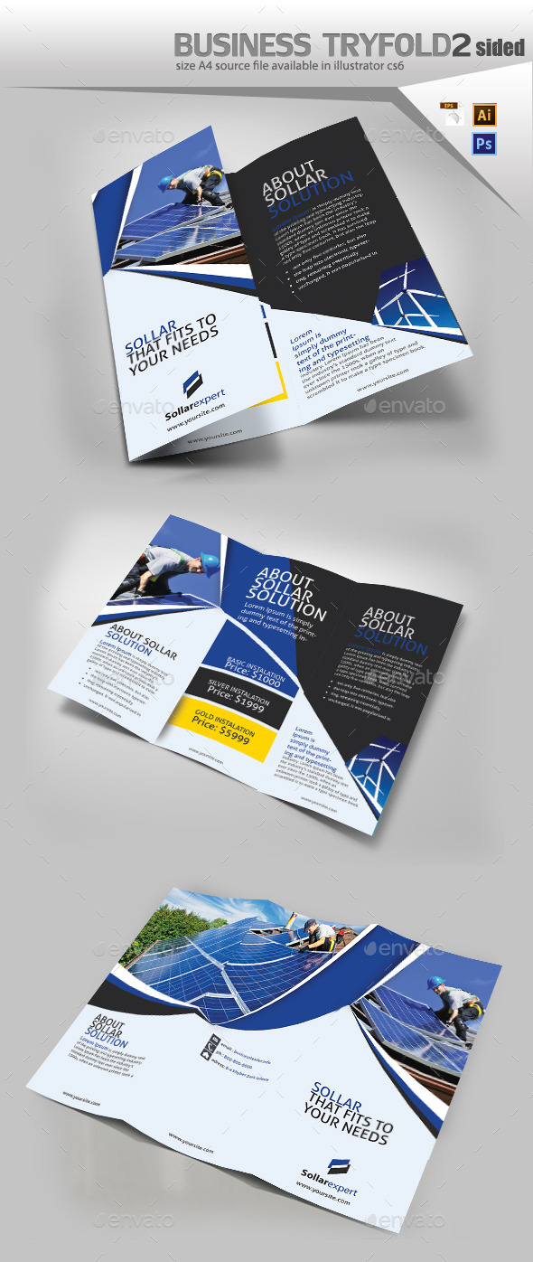 GraphicRiver Solar Panel Trifold Double Sided 10966569