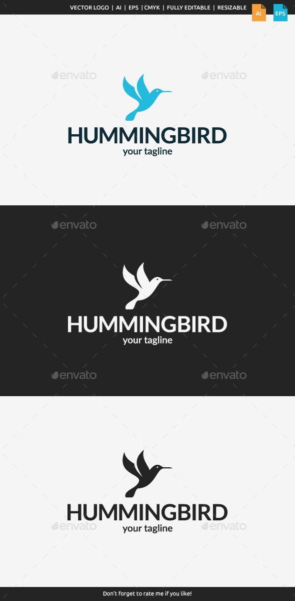 GraphicRiver Little Hummingbird Logo 10966571