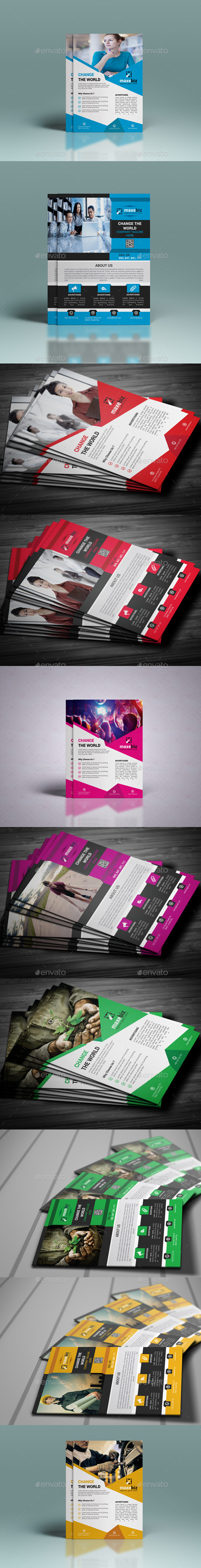 GraphicRiver Corporate Flyer Template 10966628
