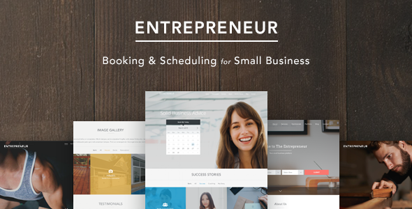 ThemeForest Entrepreneur Booking for Small Businesses 10761703