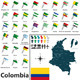 Map of Colombia - GraphicRiver Item for Sale