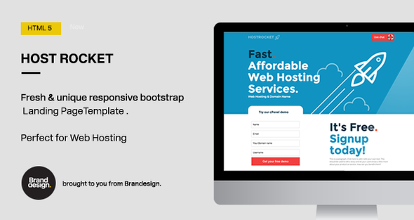 ThemeForest Hostrocket HTML5 Template 10966670