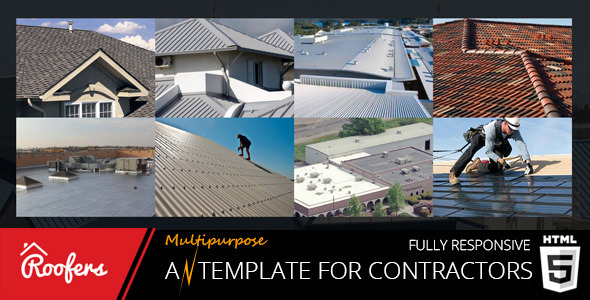 ThemeForest Roofers Construction & Contractor HTML Template 10701135