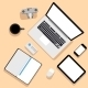 Workplace with Laptop and Devices - GraphicRiver Item for Sale