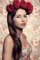 woman with floral head - PhotoDune Item for Sale