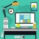 Workplace with Computer - GraphicRiver Item for Sale