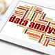 data analysis word cloud on tablet - PhotoDune Item for Sale