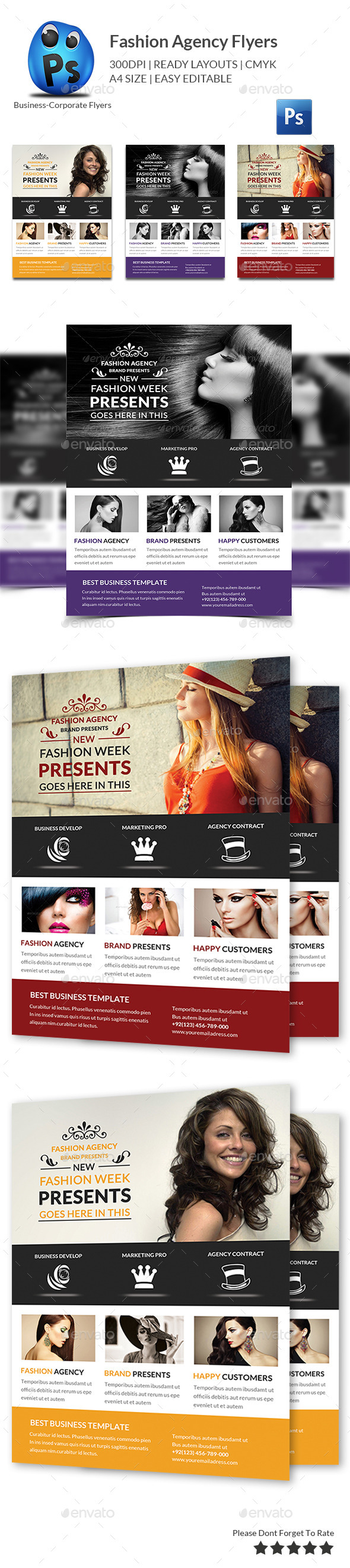 GraphicRiver Fashion Agency Flyer Print Templates 10892252